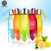 Infuser Water Bottle 650ml Fruit Juice Plastic Drinking Bottles for Sport Travel