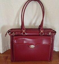 """McKlein Winnetka Ladies' Leather 15.4"""" Laptop Briefcase - Red"""