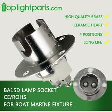 (2pcs) x BA15d  Marine Boat Bulb Light Fixture Lamp Holder Light Socket Flange