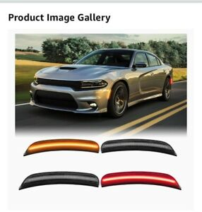 4 Pc Smoked LED Side Marker Light For Dodge Charger 2015 - 2020 New Open Box