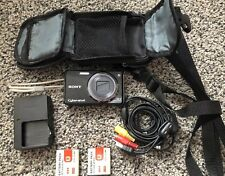 Sony Cyber-shot DSC-W290 12.1 Digital Camera. Battery Charger, AV Cable, Case