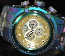 Invicta Mens Rare Bolt Swiss Reserve Chronograph Gold MOP Dial Steel Watch 22839