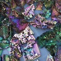 Rare Rainbow Titanium Bismuth Specimen Mineral Gemstone Crystal 20G  EO