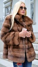 NEW LaFURIA RUSSIAN SABLE FUR LONG JACKET CLASS OF COAT MINK FOX CHINCHILLA VEST
