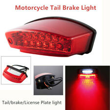 21 LED Motorcycle Rear Tail Brake Light License Number Plate Lamp Running lights