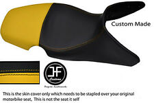 YELLOW & BLACK AUTOMOTIVE VINYL CUSTOM 01-07 FITS BMW F 650 GS DUAL SEAT COVER