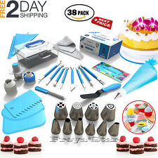 Cake Decorating Tools Set Kit Pastry Bags Nozzles Supplies Equipment 38 Pcs