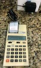 Vintage Casio Hr-10 Printing Calculator & Wall Charger - Tested Working Great