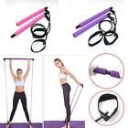 Portable Pilates Studio Yoga Bar Stick Elastic Tension Rope Exercise Fitness