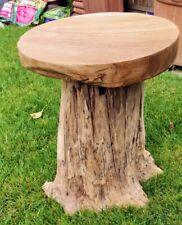 Teak Root Stool / Drink Table - Side Table - Home - Garden Toad Stool - Patio
