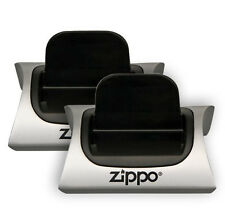 2 x Zippo Lighter Magnetic Gift Stand Lighters Display Stands - NEW! FREE UK P+P