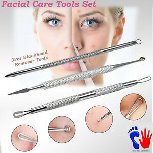 Facial Comedone Extractions Blackhead Remover Acne Pimple Blemish Squeezing Tool