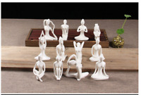 Ceramic And Enamel Material Yoga Style Figurine Home Office Decoration Miniature