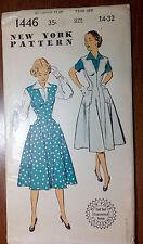 Vintage 1940s 1950s NEW YORK Sewing Pattern 1446 Jumper Dress & Blouse B32