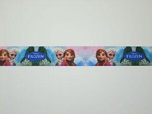 SALE! 7 Yards Printed 7/8 Frozen Grosgrain Ribbon Hair Bows Elsa & Anna  Lisa