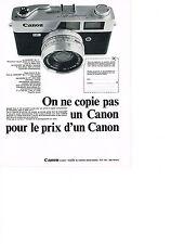 PUBLICITE  1969   CANON FT  appareil photo
