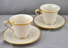 Lenox Eternal 2 Cup Saucer Sets Footed Dimension Collection