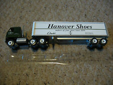 Winross Tractor Trailer, Hanover Shoes, Green Truck and White Tractor.  In Box