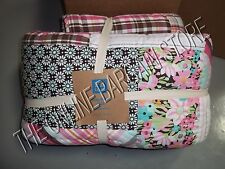 Pottery Barn Teen Boho Floral Spring Patchwork Bed Dorm Quilt Twin Pink