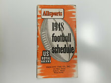 Allsports 1948 NFL/AFL/College Football Schedule Booklet - Twin City Tire Co