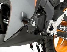 R&G RACING Aero Crash Protectors, Honda CBR125R 2011- *BLACK*