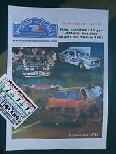 NEW DECAL  ADDITIF1.43 - FORD ESCORT - VATANEN - ROTH MANS RALLYE BANDAMA 1981