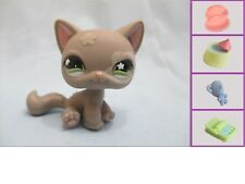 Littlest Pet Shop #467 Kitty Cat Grey Fuzzy Flower + 1 FREE Accessory Authentic