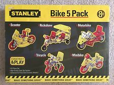 Stanley Construct and Play - Model Bike 5 Pack - 413 Steel Piece Set - Kids