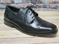 Florsheim Men's Welles Black Leather Cap Toe Oxford   *18358-01