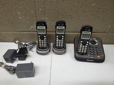 Panasonic KX-TG9341T Home Telephone w/ 3 Cordless Handsets (e22)