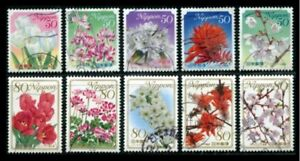 R757-758 Japan Stamp 2010 Prefecture Prefecture Flower (Episode 6) used