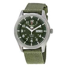 Seiko 5 Sport Automatic Khaki Green Canvas Men's Watch SNZG09