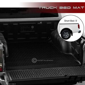 For 2005-2019 Nissan Frontier 5 Ft Blk Rubber Diamond Truck Bed Floor Mat Liner