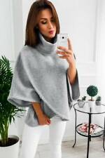 Women Winter Warm Loose Batwing Wool Poncho Coat Jacket Cloak Cape Parka Outwear