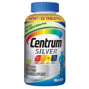 Centrum Silver Men 50+ 275 Tablets. Multivitamin Multimineral. Exp 01/2023
