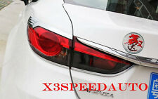 4Pcs Chromed ABS Plastic Rear Tail Light Cover Round Trim For Mazda 6 2014-On