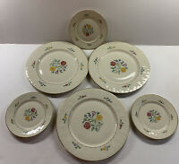 Set of 6 Community China Bavaria Lady Hamilton Dinner & Bread Butter Plates