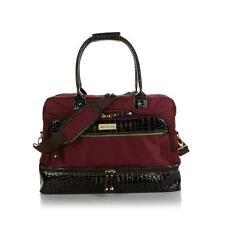 Samantha Brown Croco-Embossed Trim Drop Bottom Weekender Bag PICK A COLOR - NEW!