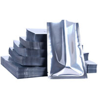 Aluminum Foil Vacuum Bags Heat Seal Silver Mylar Food Pouches Packaging