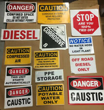 Lot45 Assorted Adhesive Vinyl Safety Signs New And Unused