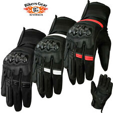 AUST BIKERS GEAR WATERPROOF SPORTS TOURING MOTORCYCLE LEATHER GLOVE THINSULATE