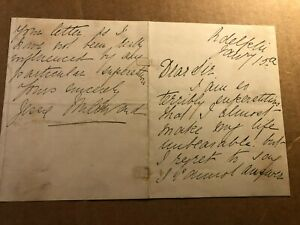 Jessie Millward Extremely Rare Autographed Letter Theatre Actress 19th c. Murder