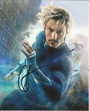 Hand Signed 8x10 photo AARON TAYLOR JOHNSON - AVENGERS as QUICKSILVER + my COA