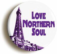 LOVE NORTHERN SOUL BADGE BUTTON PIN  BLACKPOOL MECCA WIGAN CASINO KEEP FAITH