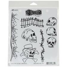New Dyan Reaveley Ranger rubber stamp Cling Set Dylusions Day of Heads Halloween