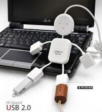 Man-shaped Smart USB Hub High-speed USB 2.0 Interface 4 Ports Multi Extension