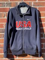 Nike USA Track And Field Full Zip Up Blue Jacket Size Small