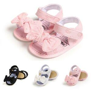 Summer Toddler Kids Baby Girls Princess Cute Toddler First Walk Bow Sandals