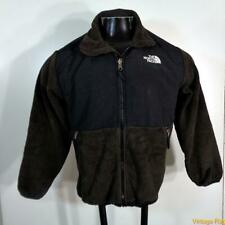 The North Face Polyester/Nylon Fleece Jacket Boys Size L Brown/black zippered