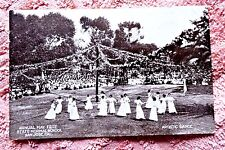VINTAGE REAL PHOTO POSTCARD NORMAL SCHOOL SAN JOSE CAL MAY FETE ARTISTIC DANCE